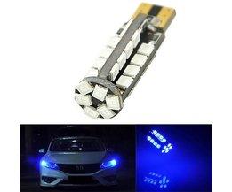T10 W5W LED Car Lamp 38 SMD 2835 194 501 Blue