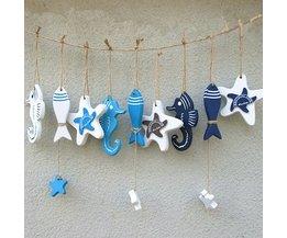 Wooden Hangers Decoration Marine Life In Mediterranean Style
