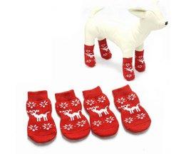 Nonslip Christmas Socks For Dog S / M
