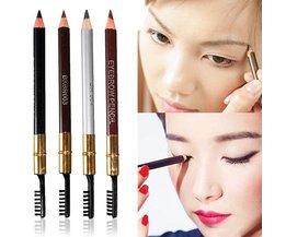 Waterproof Eyebrow Pencil Eyeliner Brush 2 In 1