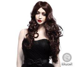 Wig Long Curly Hair Dark Brown