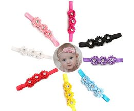 Headband With Flowers For Babies