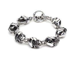Tough Skull Bracelet Stainless Steel 316L