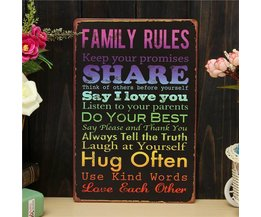 Plate With Family Rules