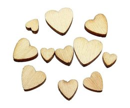 Wooden Hearts (60 Pieces)