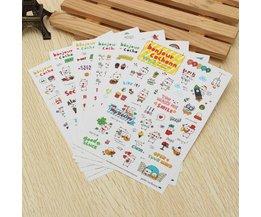 Cute Cartoon Stickers 6 Sheets