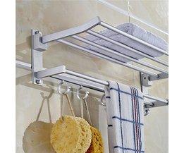 Multifunctional Aluminum Towel Rack With 5 Hooks