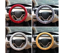 Car Steering Wheel Cover In Colours Red & White