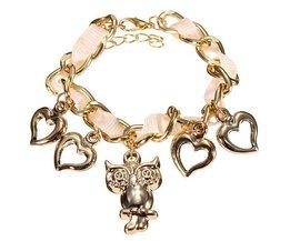 Cute Plated Charm Bracelet