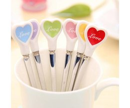 Nice Coffee Spoons With Heart (3 Pieces)