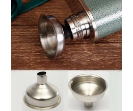 Stainless Steel Funnel In The Kitchen