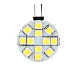 G4 LED Bulb 12V Shelf With 12 SMD LEDs 5050 Pure White