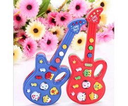Toy Guitar In Cheerful Colours
