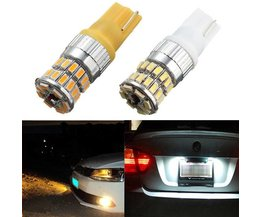 T10 LED Car Light In White Or Yellow