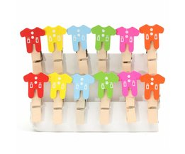 Mini Clip Poses With Baby Clothes 12 Pieces