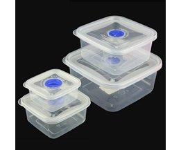 Square Transparent Plastic Food Bowl
