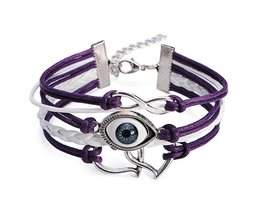 Evil Eye Double Heart Bracelet Punk