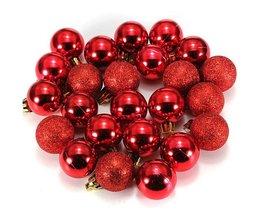Box Of 24 Christmas Balls