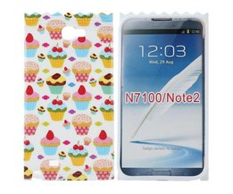 Samsung Note 2 Cover Case With 3D Cupcakes