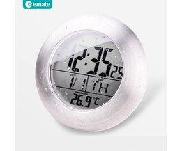 Bathroom Clock Temperature Sensor Digital