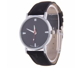 Black Watch With PU Leather Strap