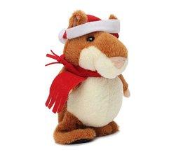 Plush Hamster Runs Talking Christmas
