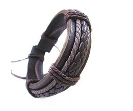 Braided Artificial Leather Bracelet
