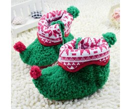 Baby Shoes With Christmas Design