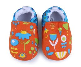 Soft Shoes With Flower Pattern For Babies