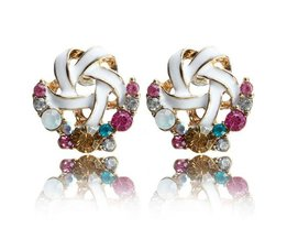 Merry Earrings With Colored Stones