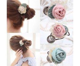 Vintage Hair Elastic With Rose