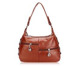 Shoulder Bag In Blue, Black Or Brown
