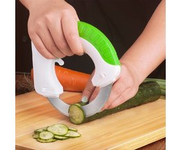 Kitchen Gadget Stainless Steel Round Wheel Vegetable Chopper Slicer Circular Rolling Knife Easy Cutting Tools