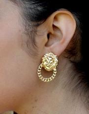 Earrings Lion Cedro