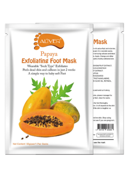AL'iver Exfoliating Baby Foot Mask Papaya (Set)