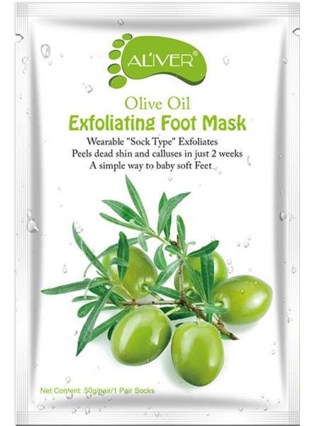 AL'iver Exfoliating Baby Foot Mask Olive Oil (Set)