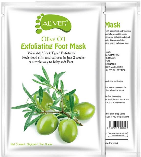 AL'iver Exfoliating Baby Foot Mask Olive Oil (Set)