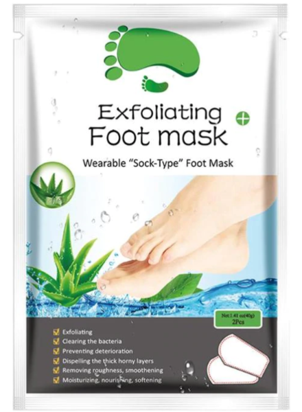 AL'iver Exfoliating Baby Foot Mask Aloe Vera (Set)