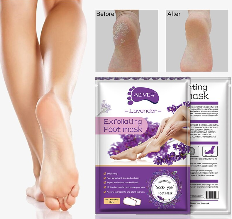 AL'iver Exfoliating Baby Foot Mask Lavender