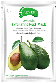 AL'iver Exfoliating Baby Foot Mask Advocado (Set)
