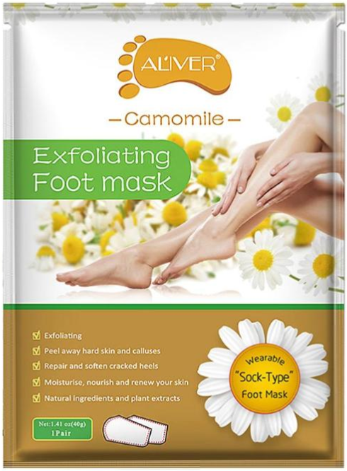 AL'iver Exfoliating Baby Foot Mask Camomile (Set)