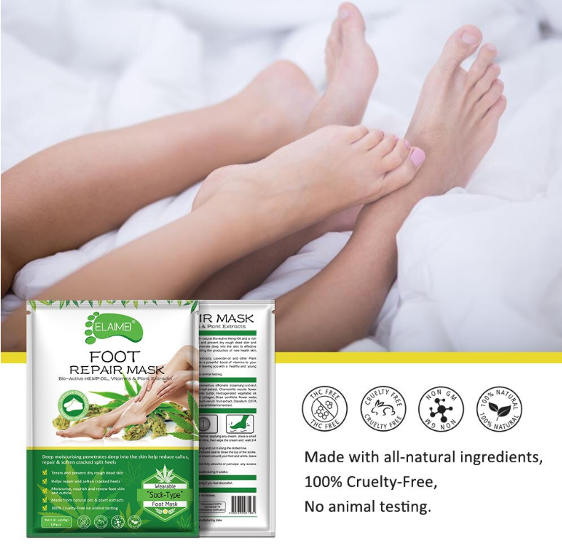 Foot Repair Mask Bio-Active HEMP Oil (Set)