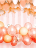 Rose Gold Wine Red Latex Ballon Garland Arch Kit 57pcs