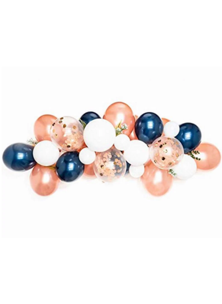 Rose Gold Blue Latex Ballon Garland Arch Kit 57pcs