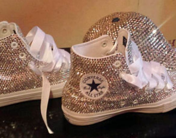 Customized Half Full Crystal Shoes