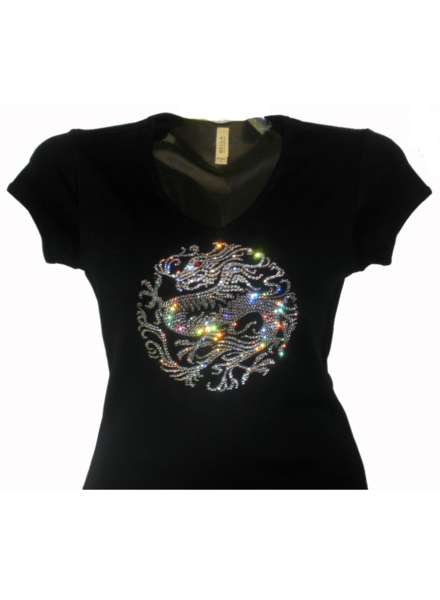Customized Swarovski Elementen T-shirt