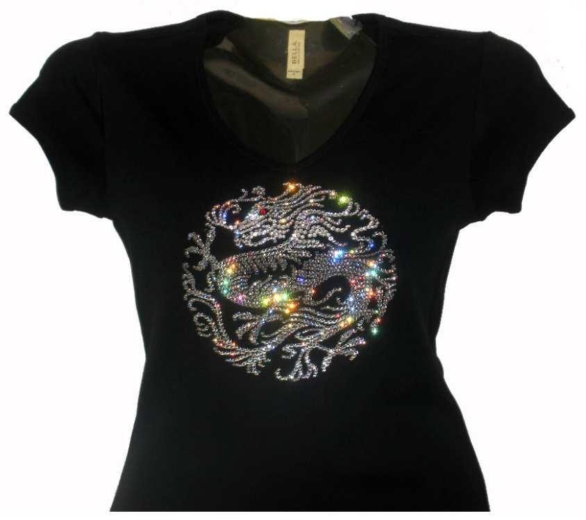 Customized Swarovski Elementen T-shirt