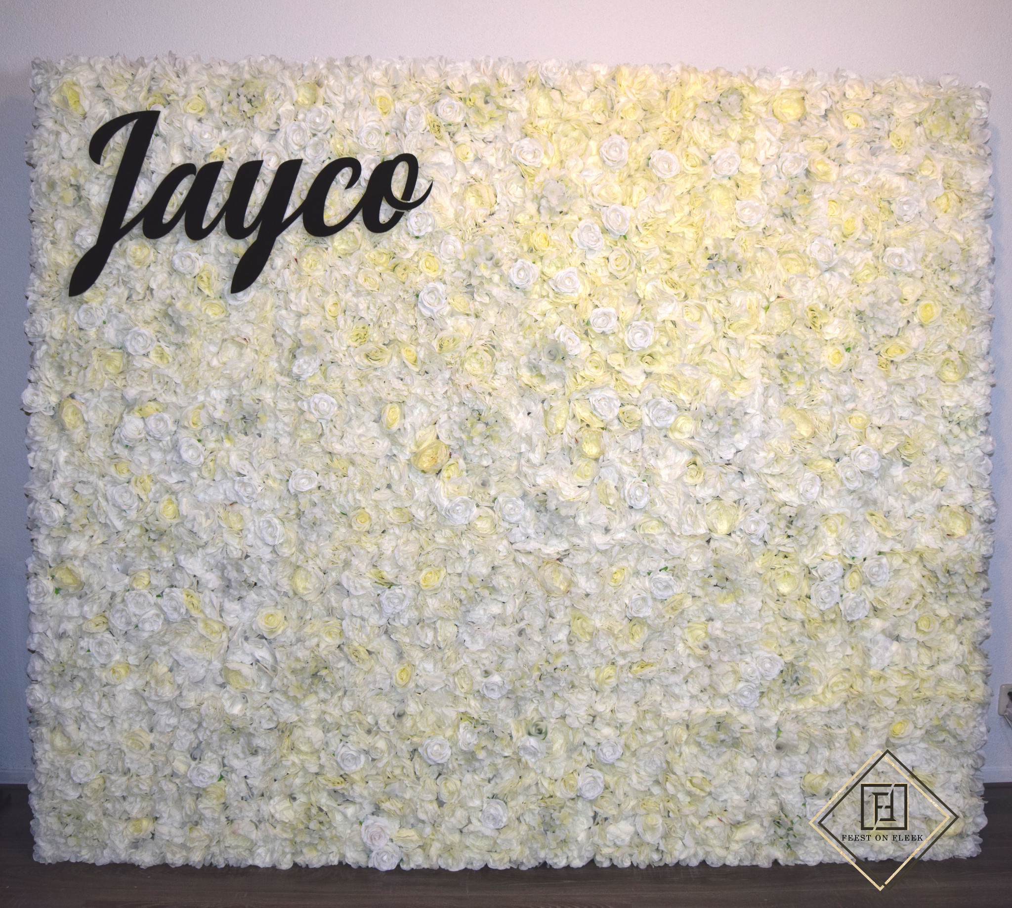 Ivory Flower Wall 120 x 200 (TE HUUR)