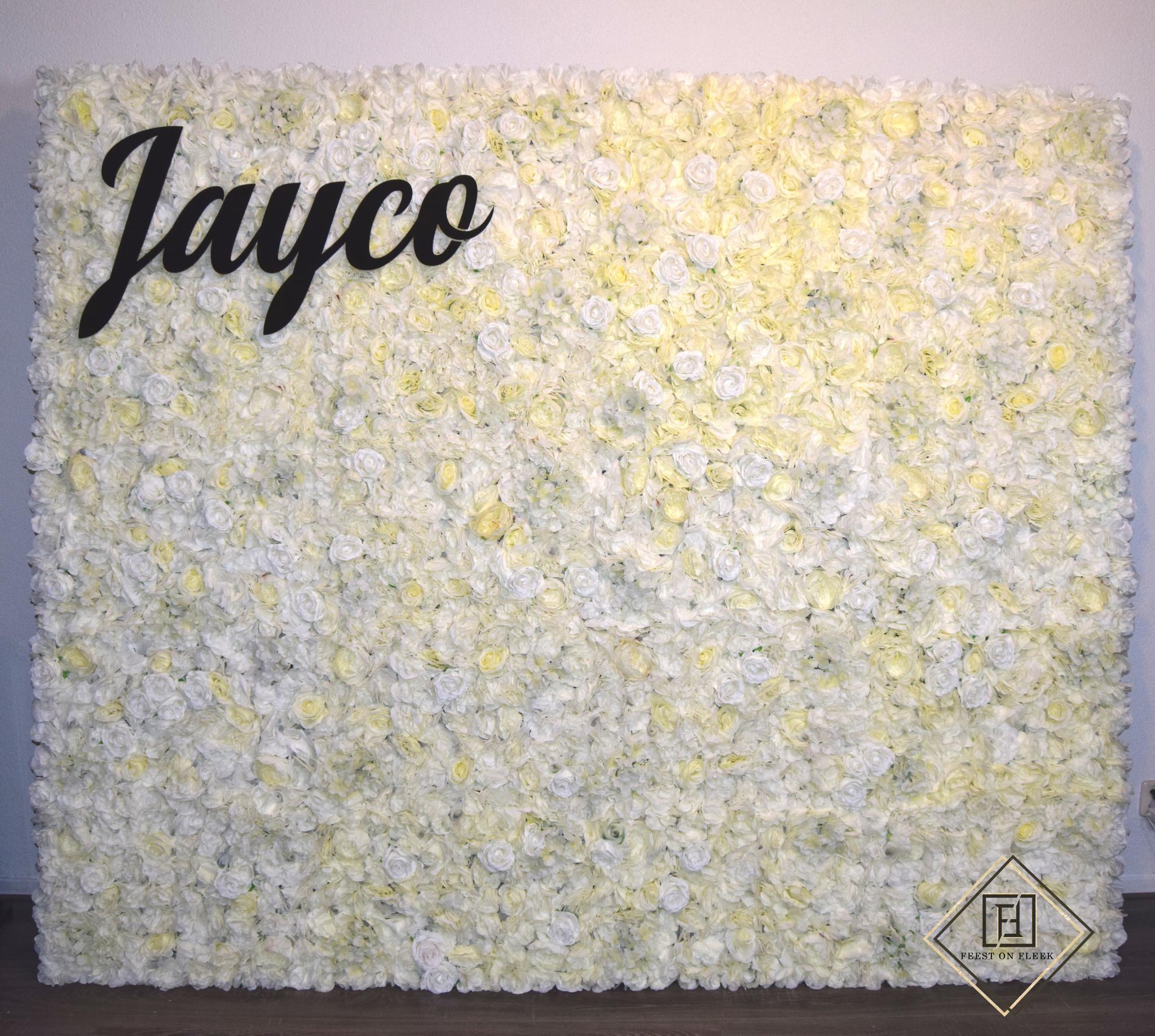 Ivory Flower Wall 240 x 200 (TE HUUR)