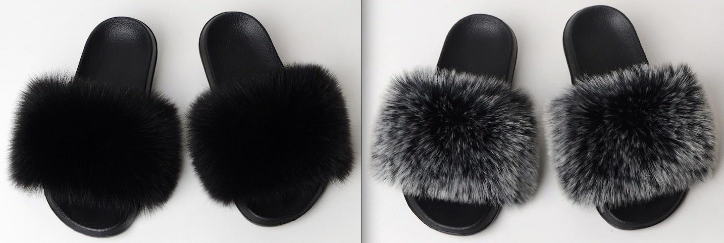 Fox Fur Slides Aliyah